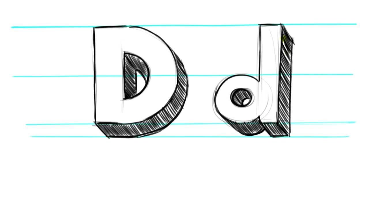 1280x720 How To Draw 3d Letters D