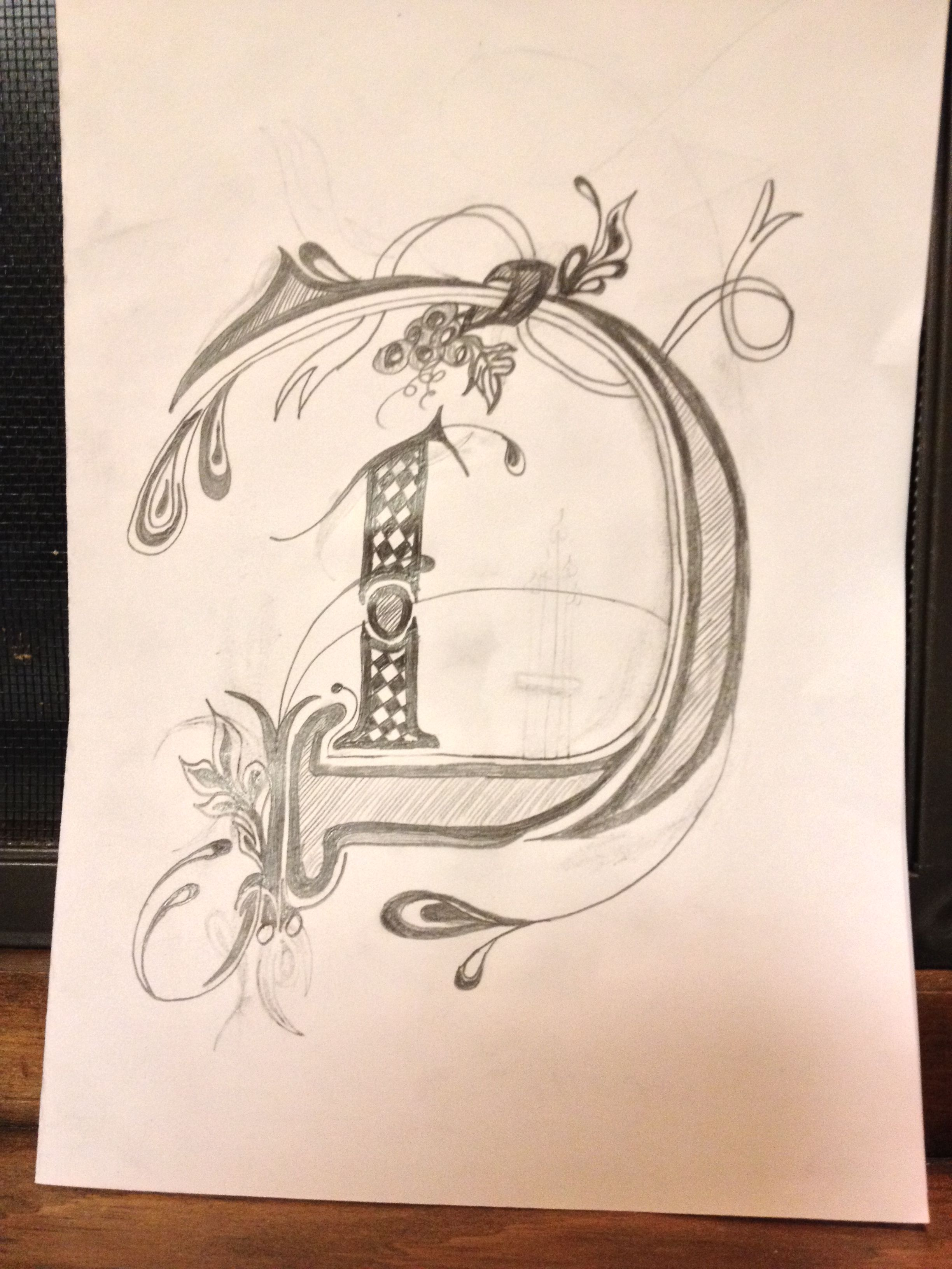 2448x3264 Pencil Sketch Letter D D Is For Debra