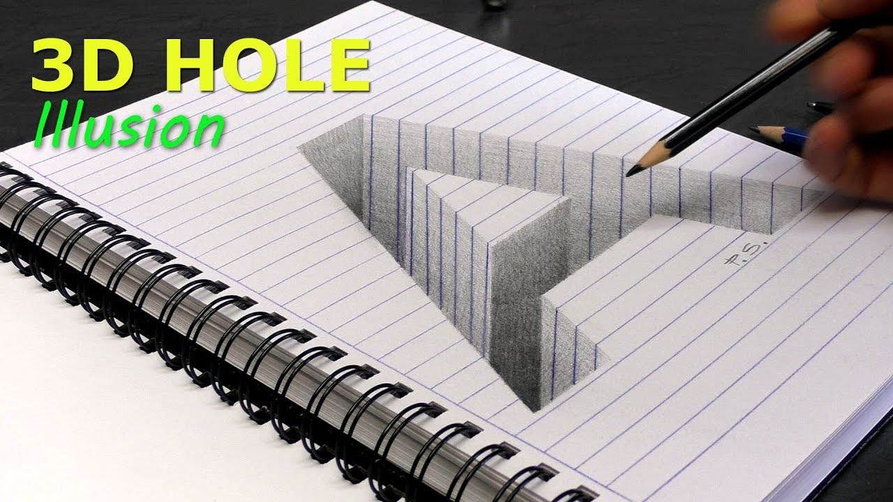 1280x720 How To Draw A Hole Letter A In Line Paper 3d Trick Art