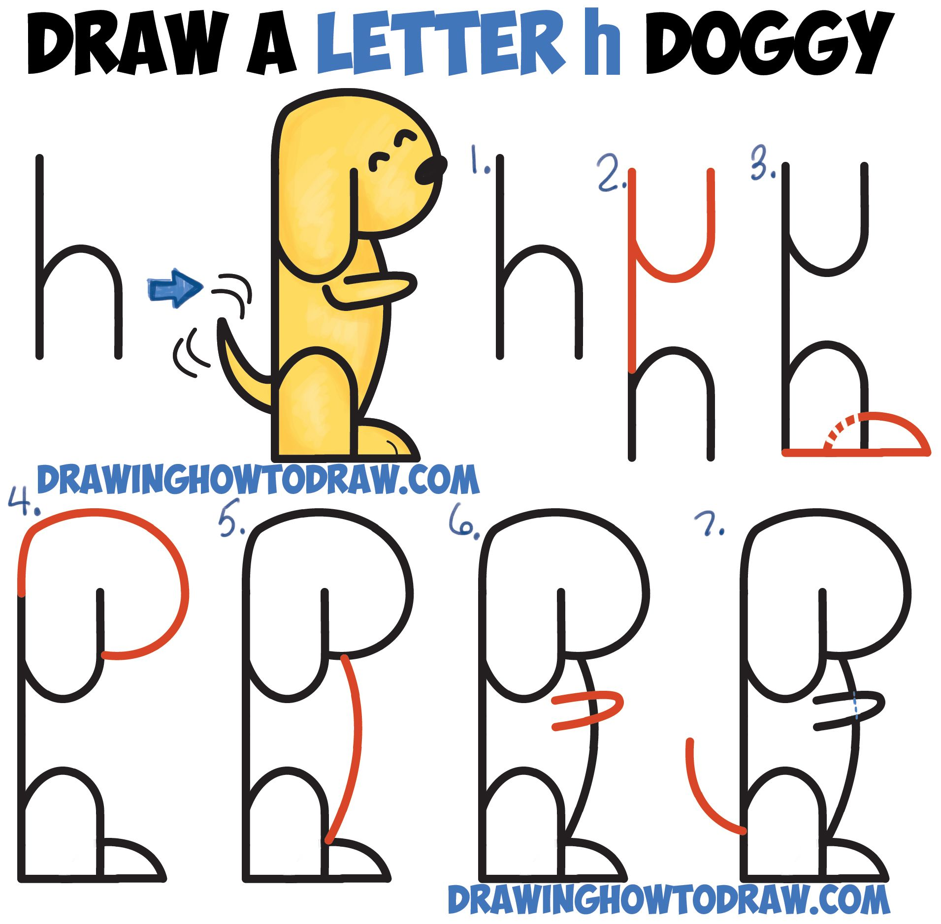 1911x1878 How To Draw A Cartoon Dog Begging From 2 Letter
