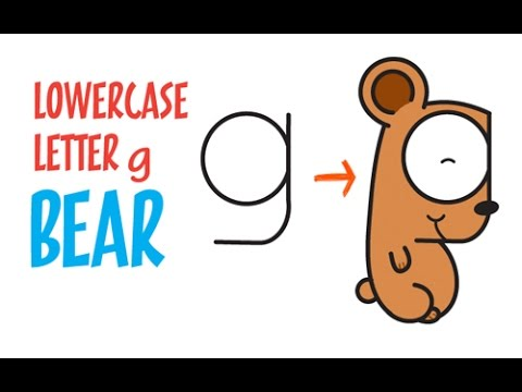 480x360 Letter Drawing How To Draw A Bear From The Letter G