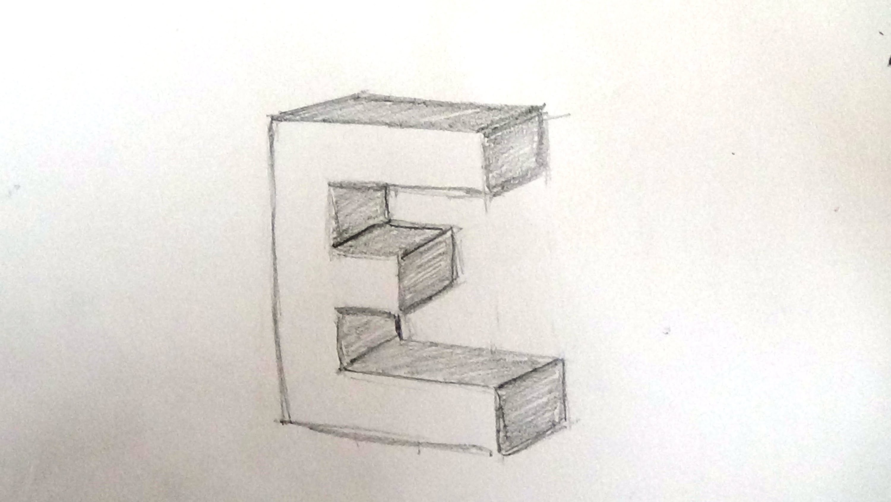 3000x1690 How To Draw 3d Letter E