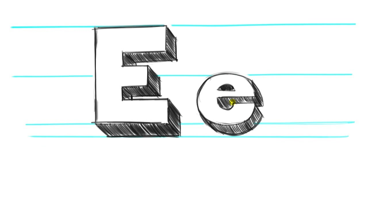 1280x720 How To Draw 3d Letters E