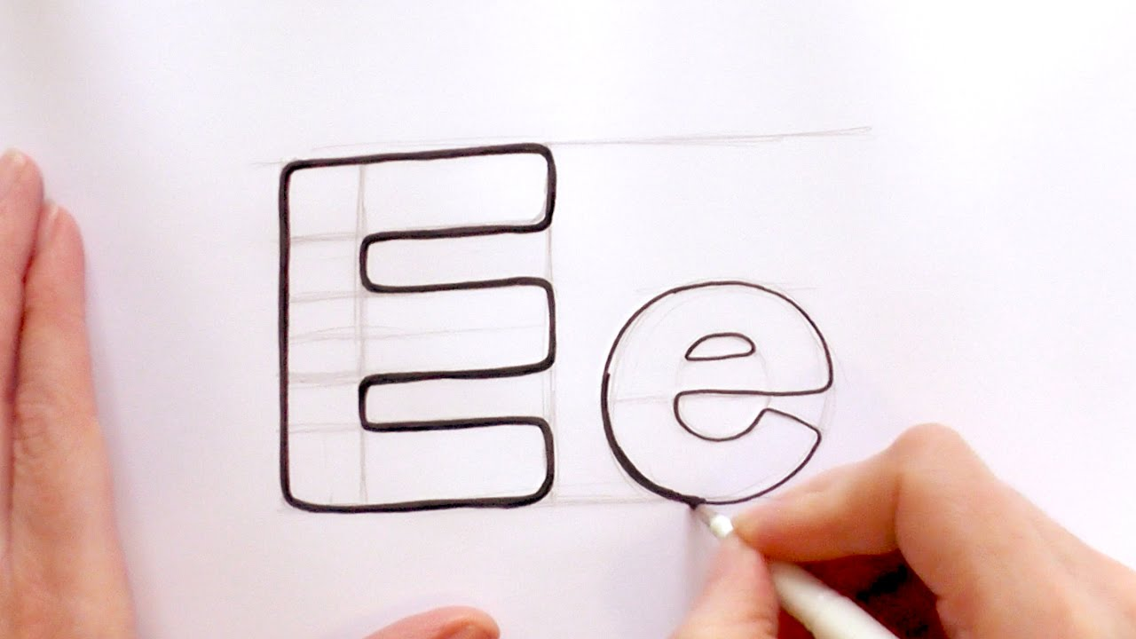 1280x720 How To Draw A Cartoon Letter E And E
