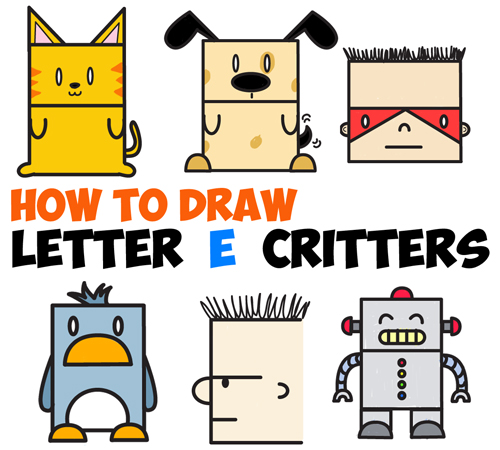 500x450 Huge Guide To Drawing Cartoon Characters From Uppercase Letter E