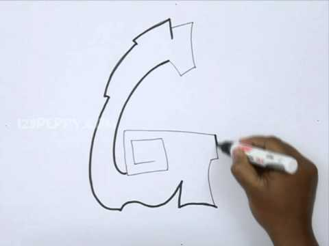 480x360 How To Draw Graffiti Letter G
