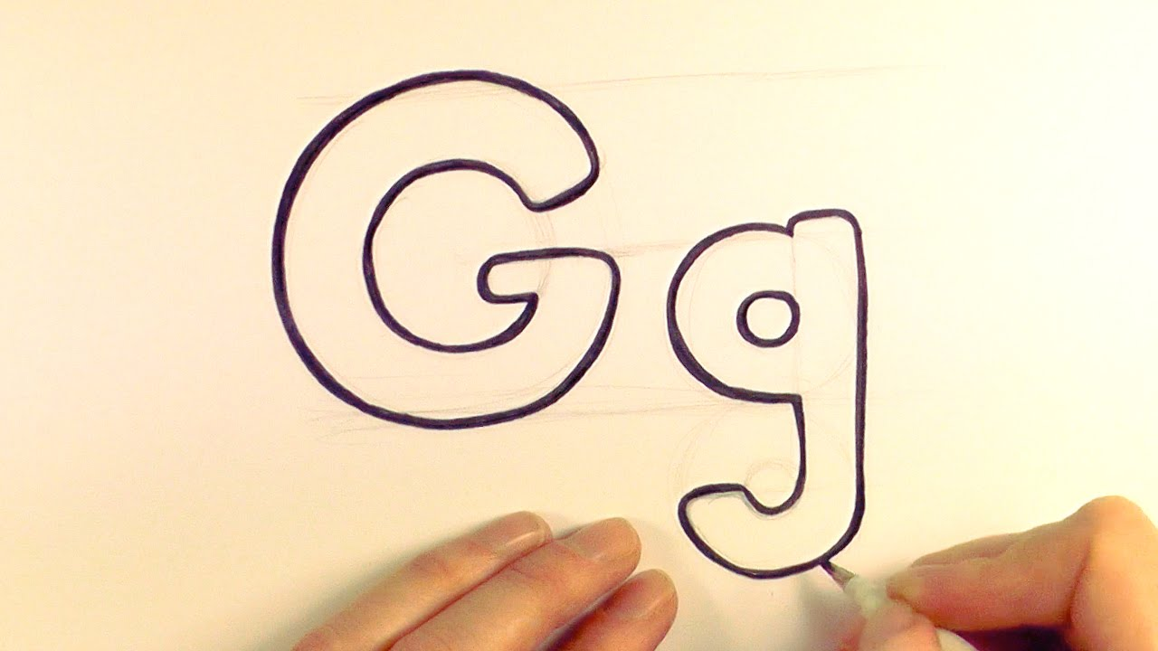 1280x720 How To Draw A Cartoon Letter G And G