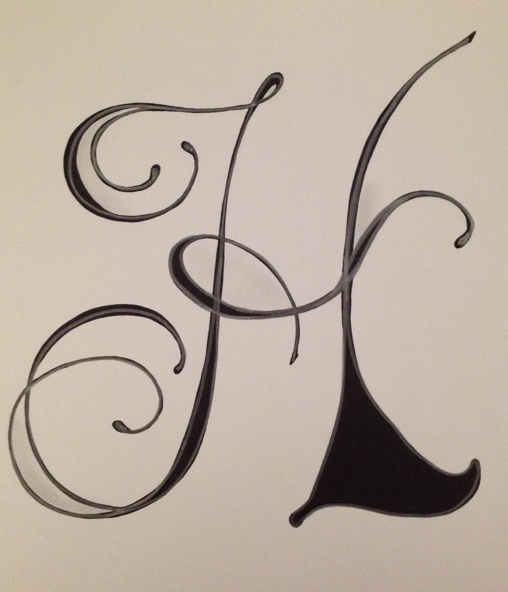 1755x2046 Letter H By Vera Art And Doodles Pinterest Calligraphy