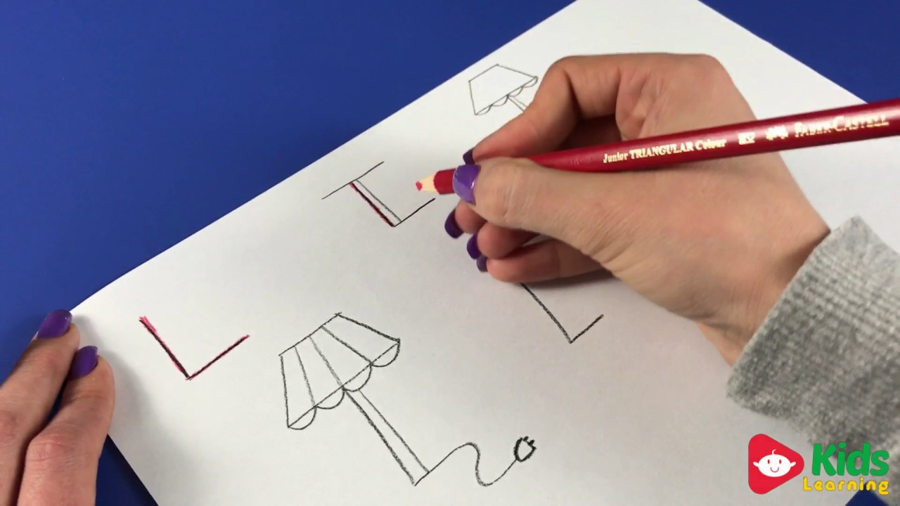 1280x720 Kids Learning The Letter L By Drawing (Learning The Alphabet