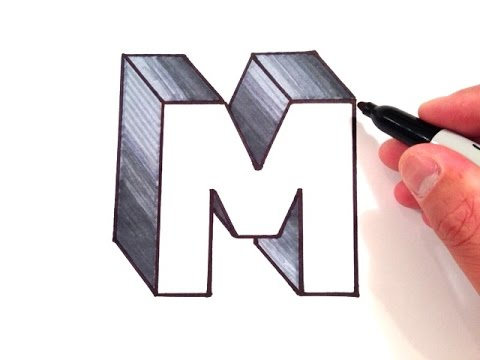 480x360 How To Draw The Letter M In 3d