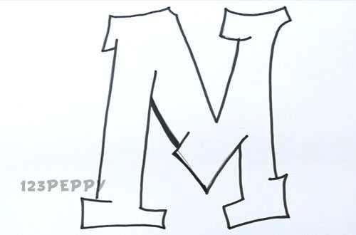 500x330 How To Draw A Graffiti M