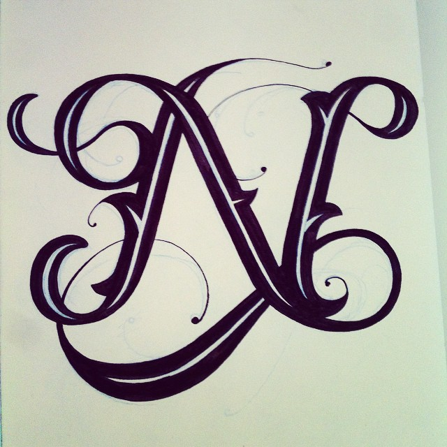 Letter N Drawing At GetDrawings