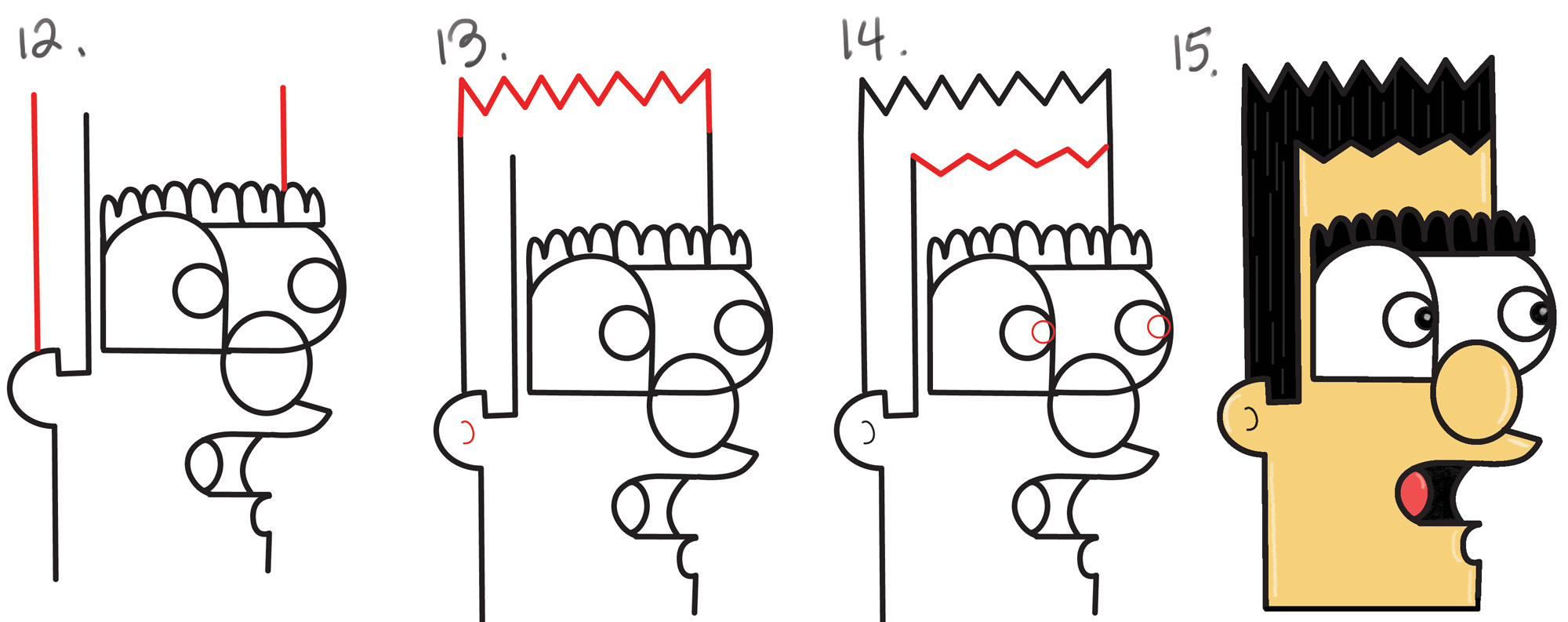 2000x793 How To Draw A Cartoon Man From Lowercase Letter N In Easy Steps