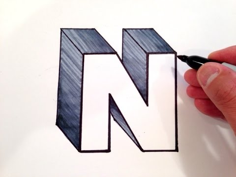 480x360 How To Draw The Letter N In 3d