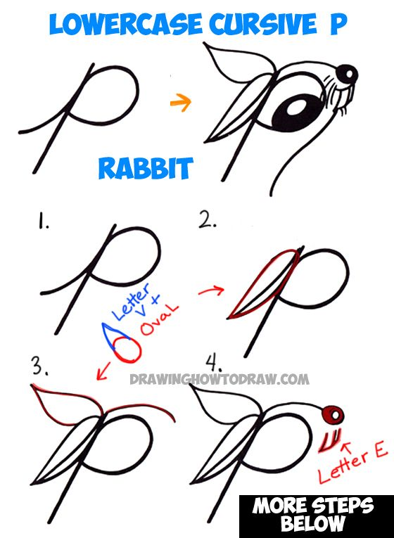 560x765 How To Draw Cartoon Bunny Rabbit From Lowercase Letter R In Easy
