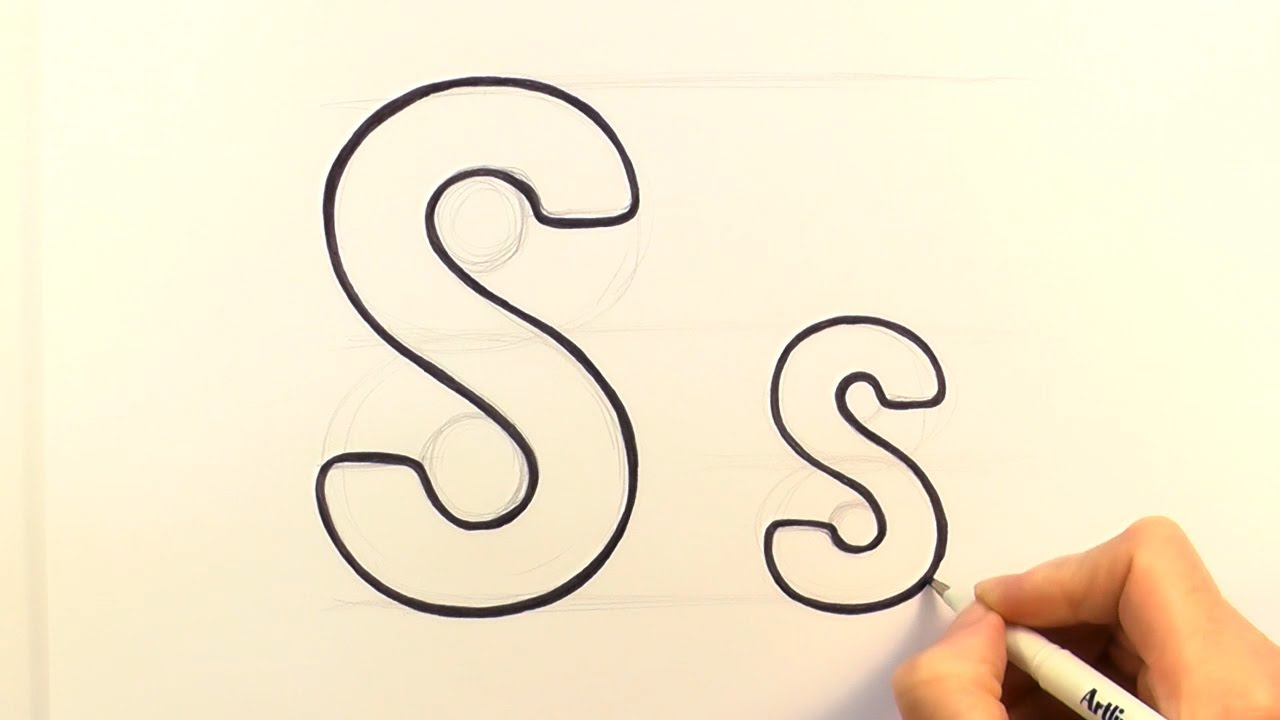 1280x720 How To Draw A Cartoon Letter S And S