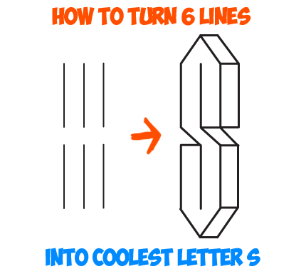 430x384 Learn How To Turn 6 Lines Into The Coolest Letter S