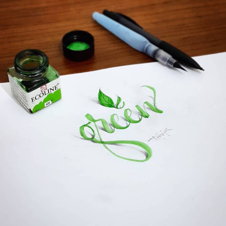 780x780 Beautiful 3d Calligraphic Drawings That Look Like They'Re Popping
