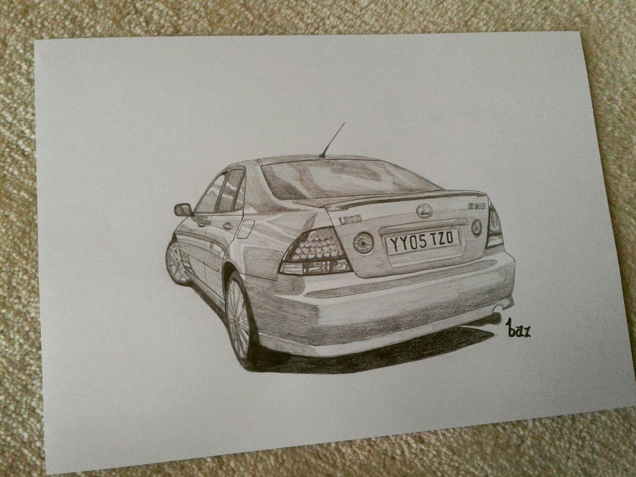 1288x966 Drawing Of Blackpanthaa's Lexus!