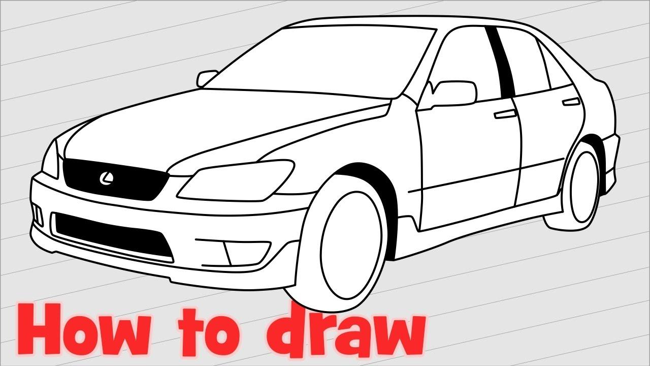 1280x720 How To Draw A Car Lexus Is 200 Sport
