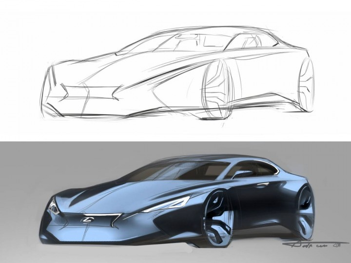 720x540 Lexus Concept From Drawing To Render