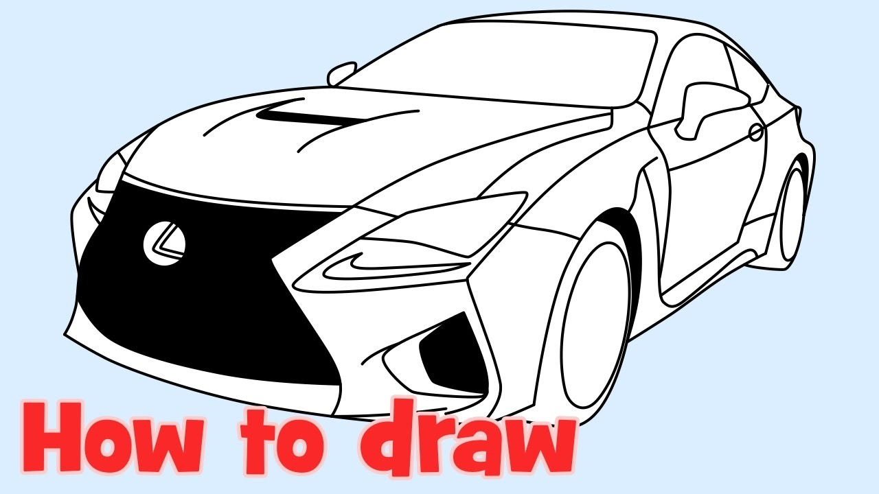 1280x720 How To Draw A Car Lexus Rc F Step By Step
