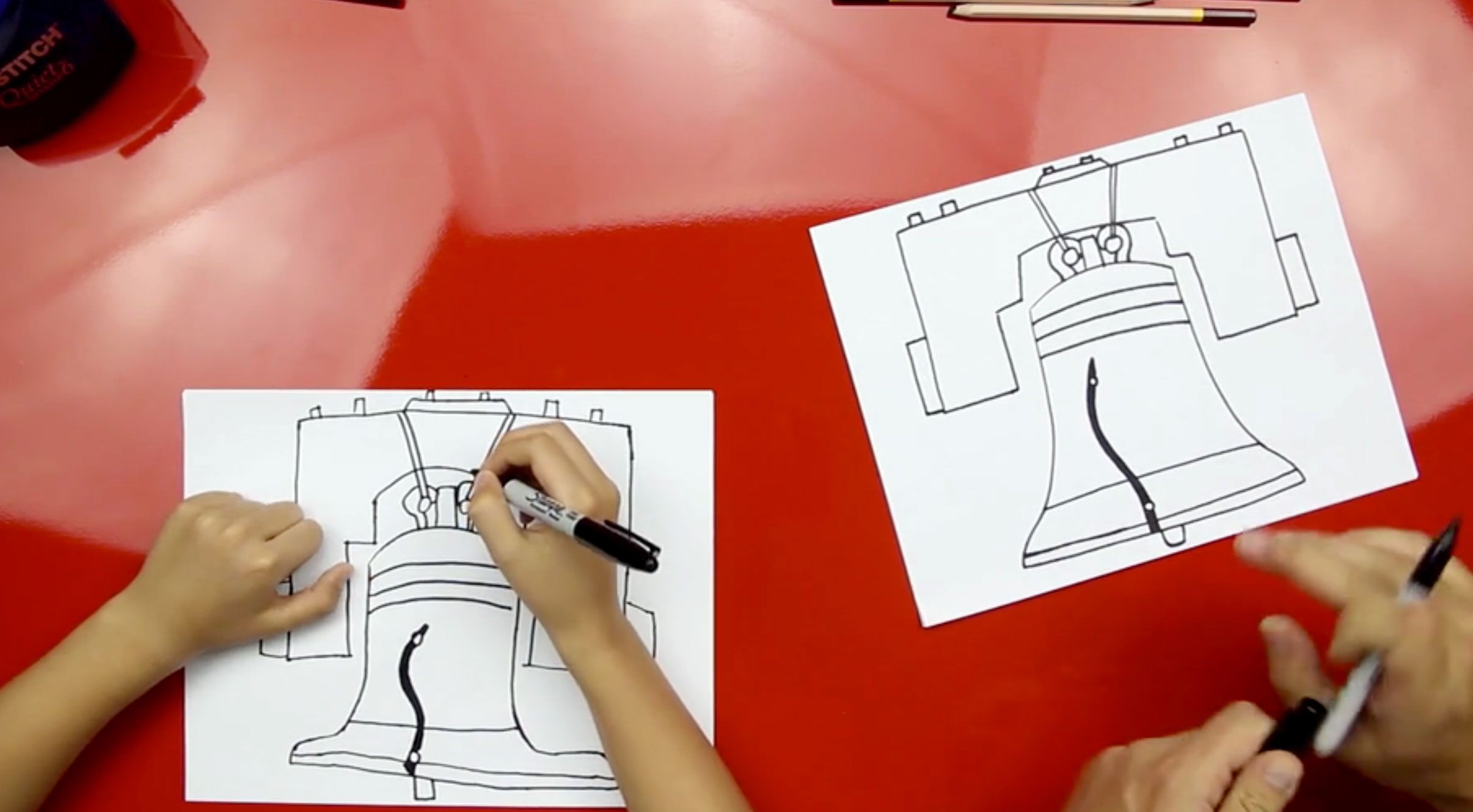 2411x1330 How To Draw The Liberty Bell