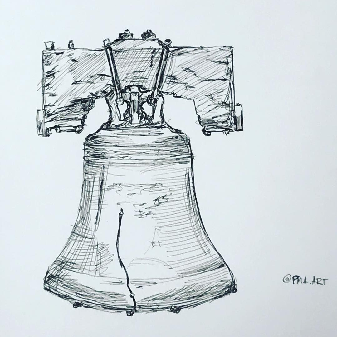 1080x1080 Liberty Bell In Ink