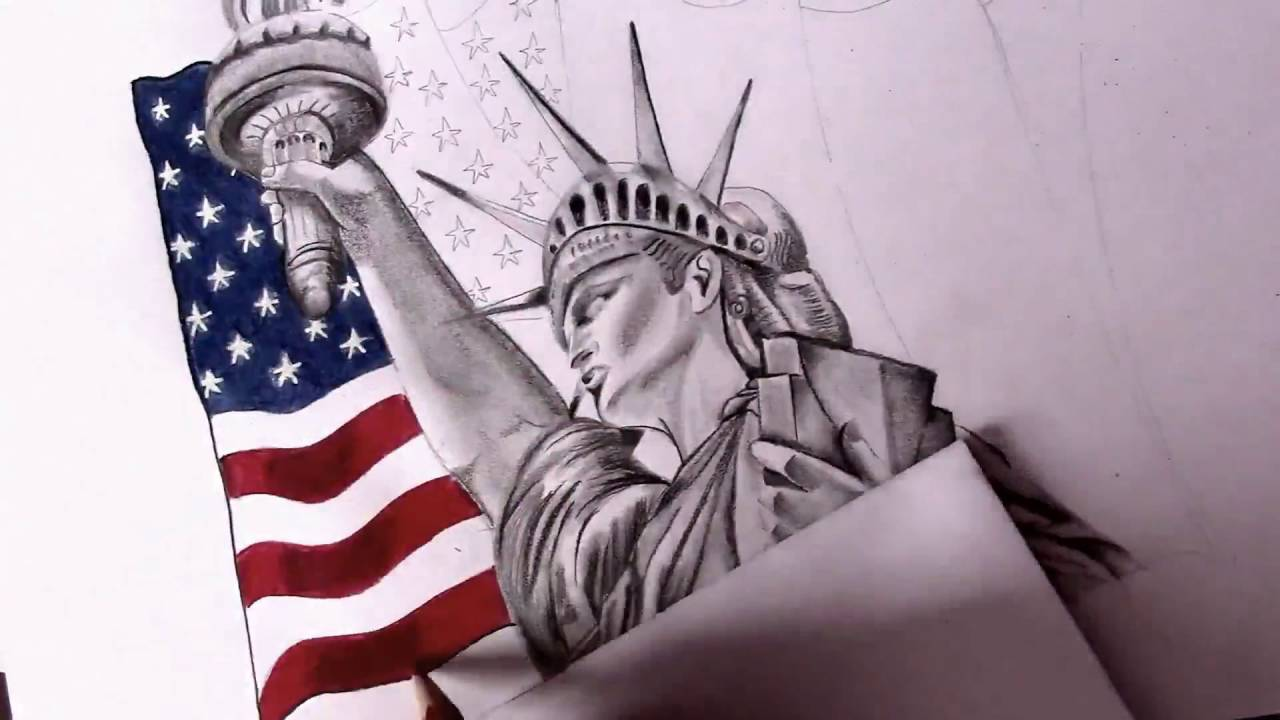 1280x720 Drawing Statue Of Liberty Sandy Sandy