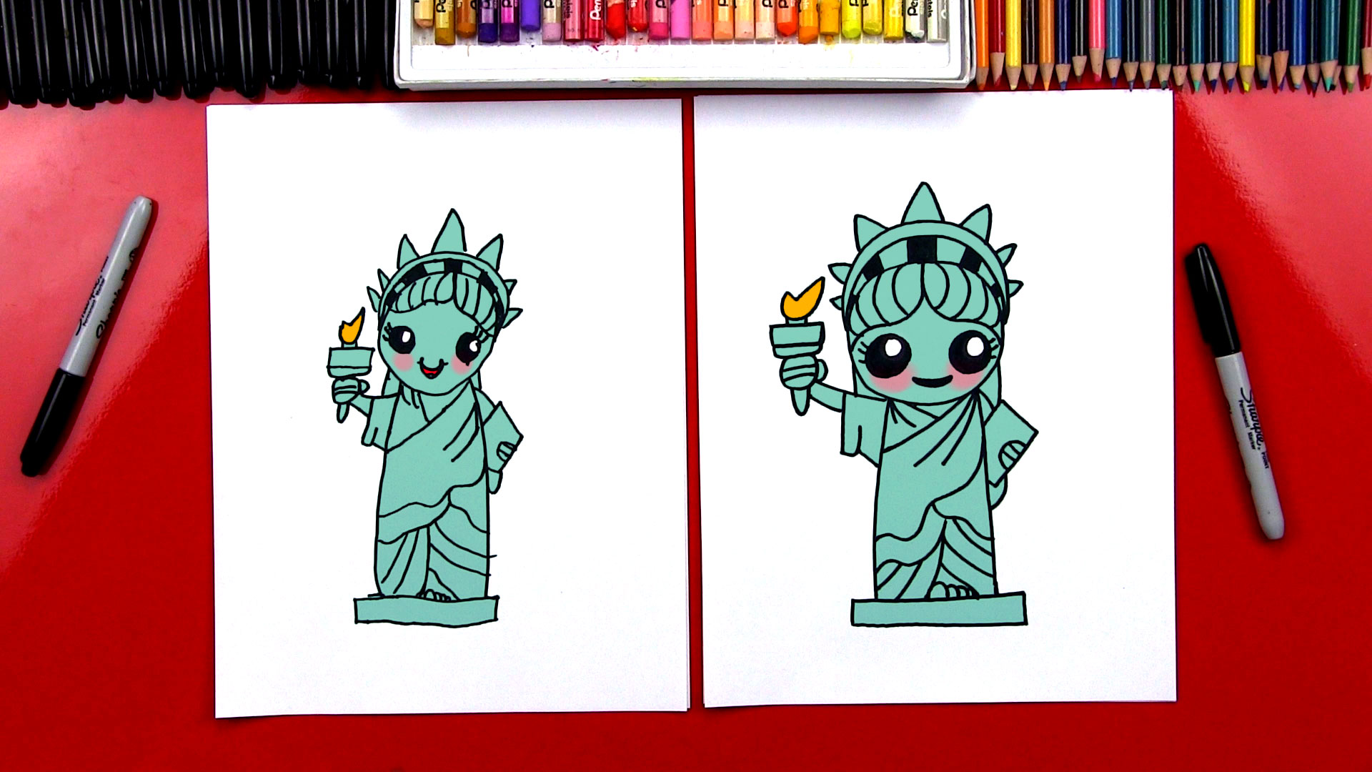 1920x1080 How To Draw The Statue Of Liberty
