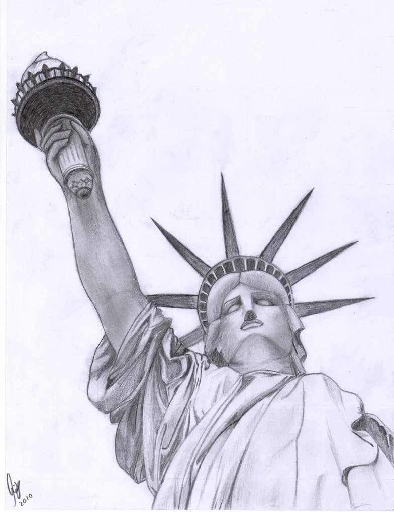 784x1019 Statue Of Liberty By Mille94