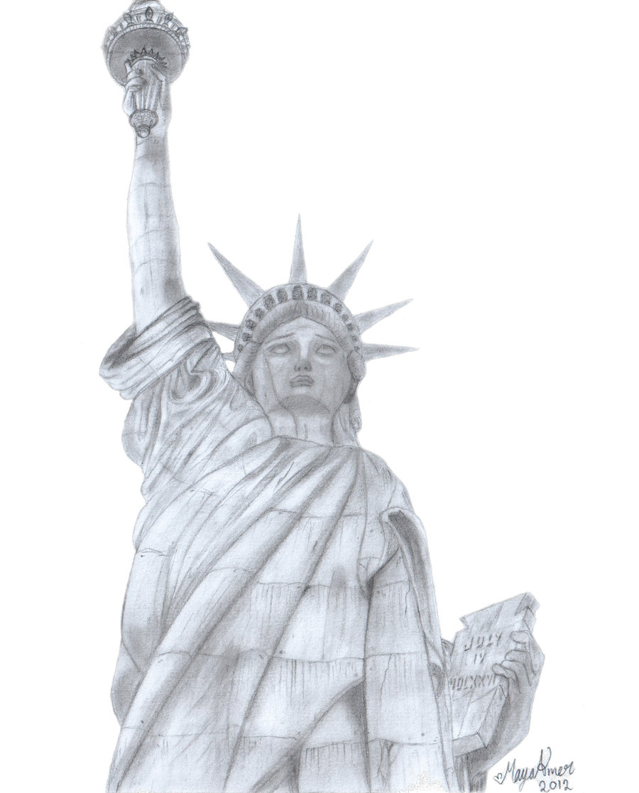 900x1116 The Statue Of Liberty By Maya Amer