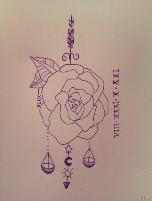 500x663 Libra Zodiac Tattoo Scale Drawing Nice Drawing Of Zodiac Libra