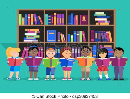 450x343 Other Children Read Books In Library. Other Children Read