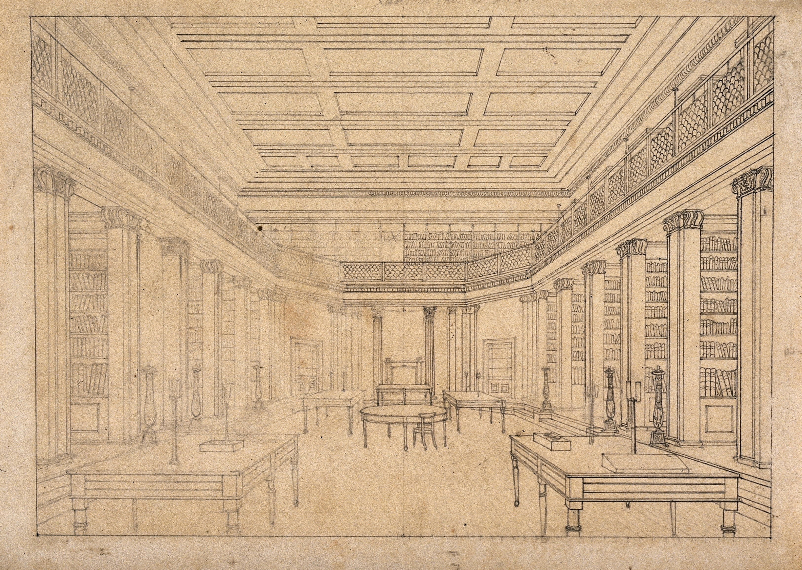 3252x2312 Filethe London Institution The Interior Of The Library. Drawing