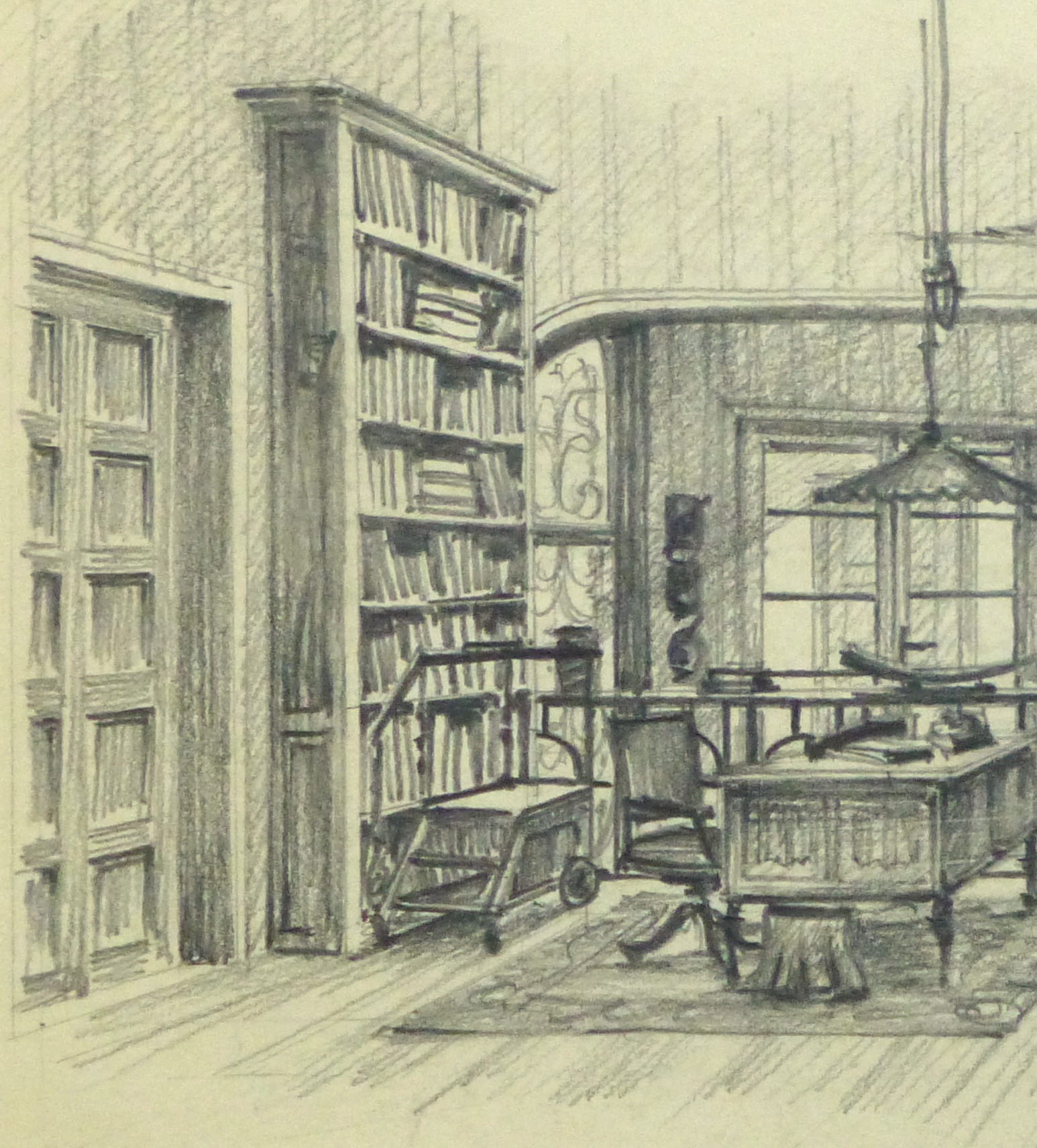 1546x1712 Give Me A Pencil Sketch Of Library