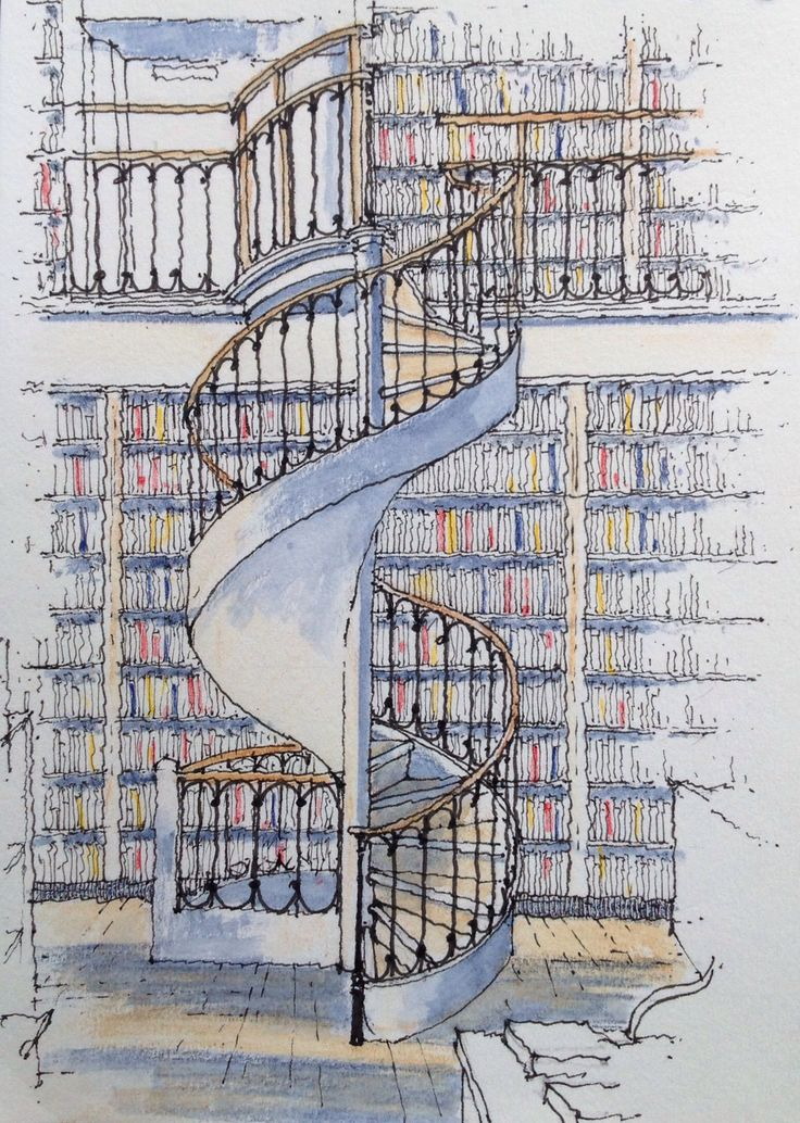 736x1034 Pin By Rik Peel On Claude Spiral Staircases And Sketches