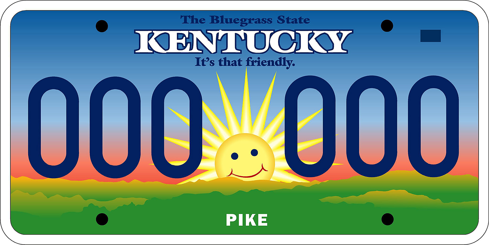2048x1025 Mr. Smiley License Plate, 2002 Kentucky Photo Archive