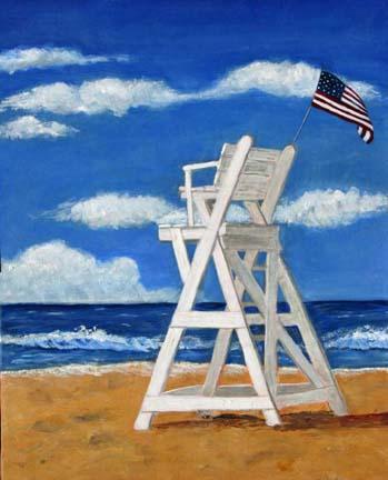 349x432 Lifeguard Stand Art