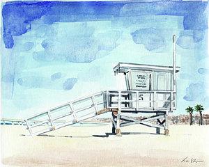 300x240 Lifeguard Stand Paintings Fine Art America
