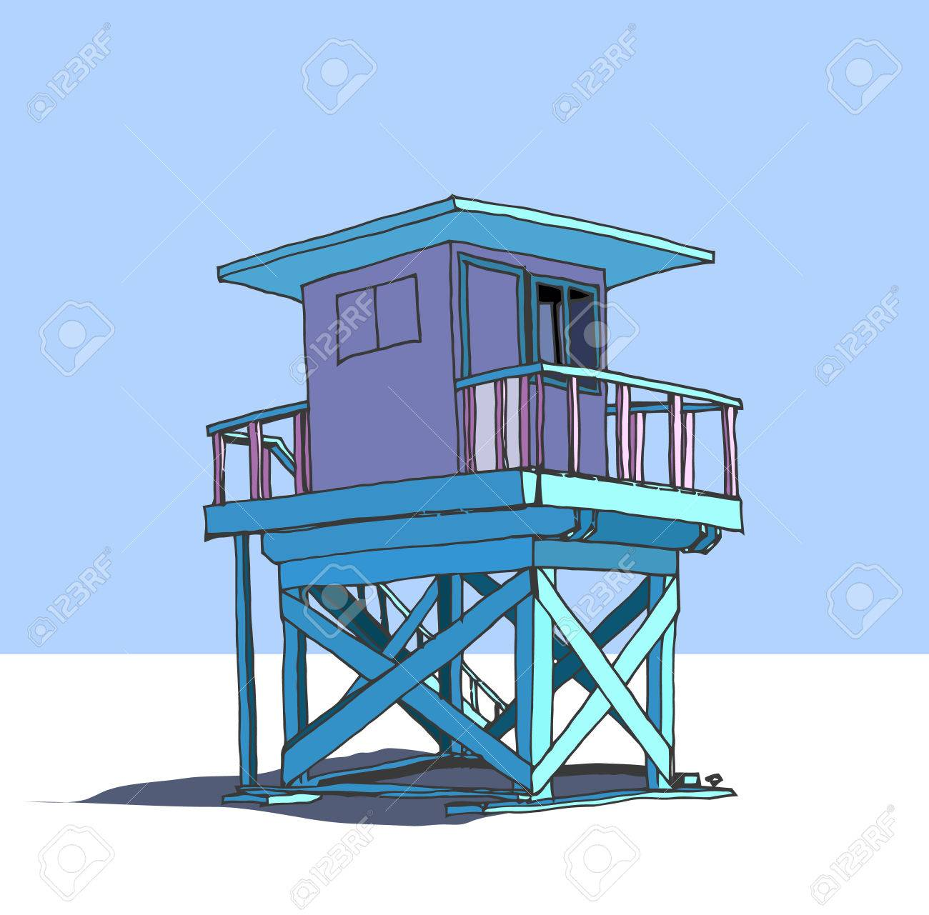1300x1281 Lifeguard Station Royalty Free Cliparts, Vectors, And Stock