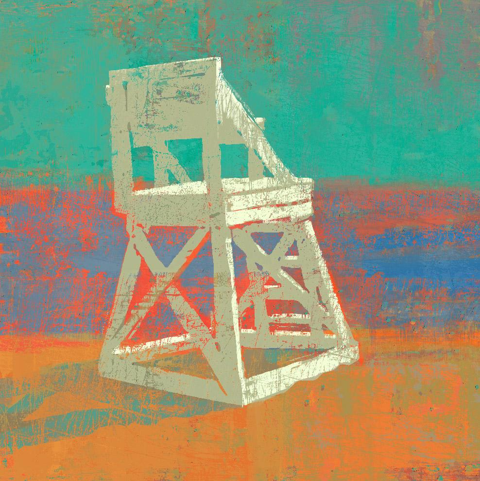 988x991 Richard Cardona Painting, Prints, Amp Drawings Lifeguard Stand