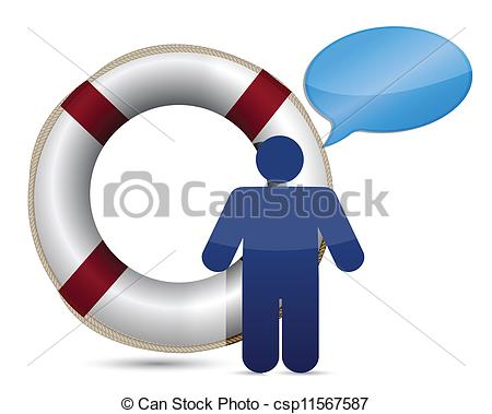 450x379 Sos Lifesaver Message Icon Illustration Design Over White Vector