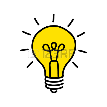 450x450 Black Lightbulb Drawing On White Background Royalty Free Cliparts