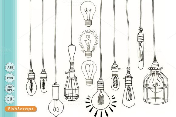 580x386 Check Out Light Bulb Digital Stamps