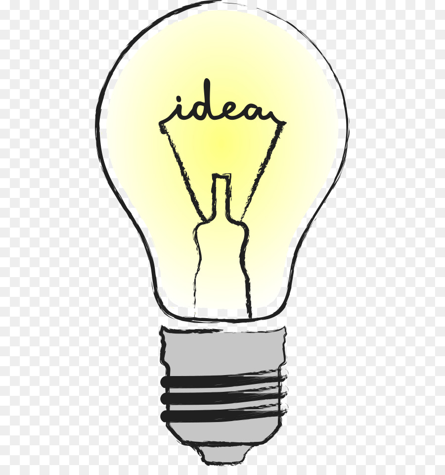 900x960 Incandescent Light Bulb Lamp Drawing Icon