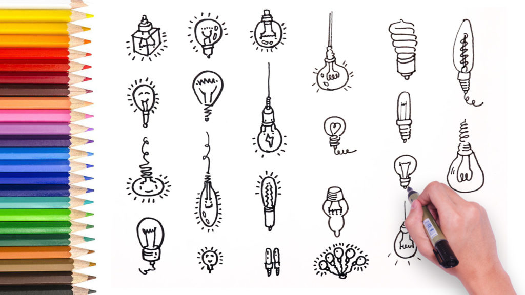 1024x576 Learn How To Draw Different Light Bulb