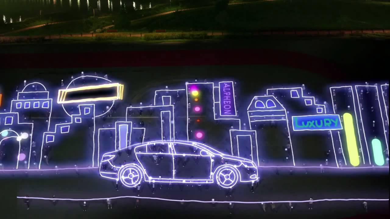 1280x720 Huge Light Drawing Viral Video