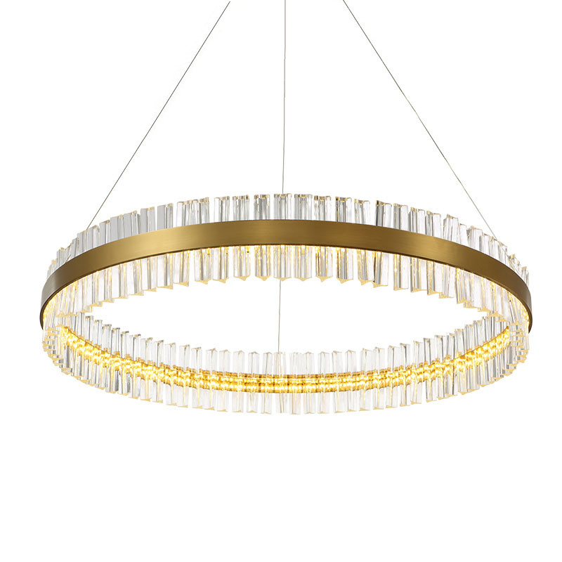 800x800 Ring Hanging Lamp Modern Creative Gold Drawing Stainless Steel