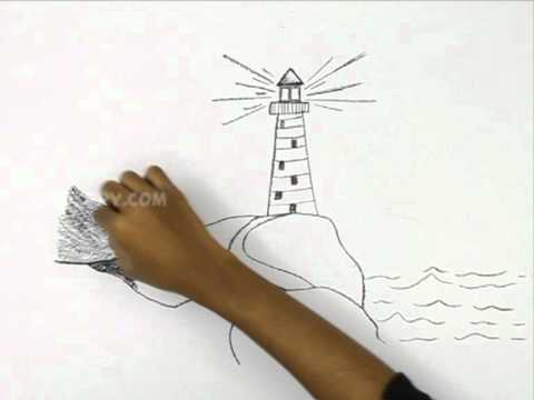 480x360 How To Draw A Light House